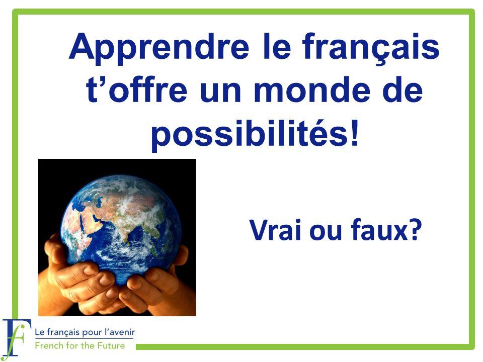 Apprendre le français t'offre un monde de possibilités!