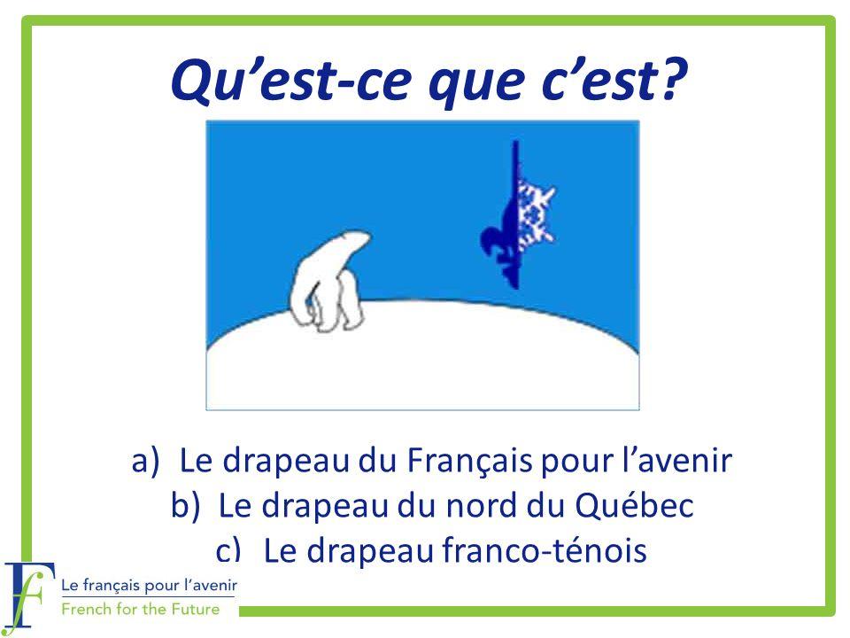 Qu'est-ce que c'est Le drapeau du Français pour l'avenir