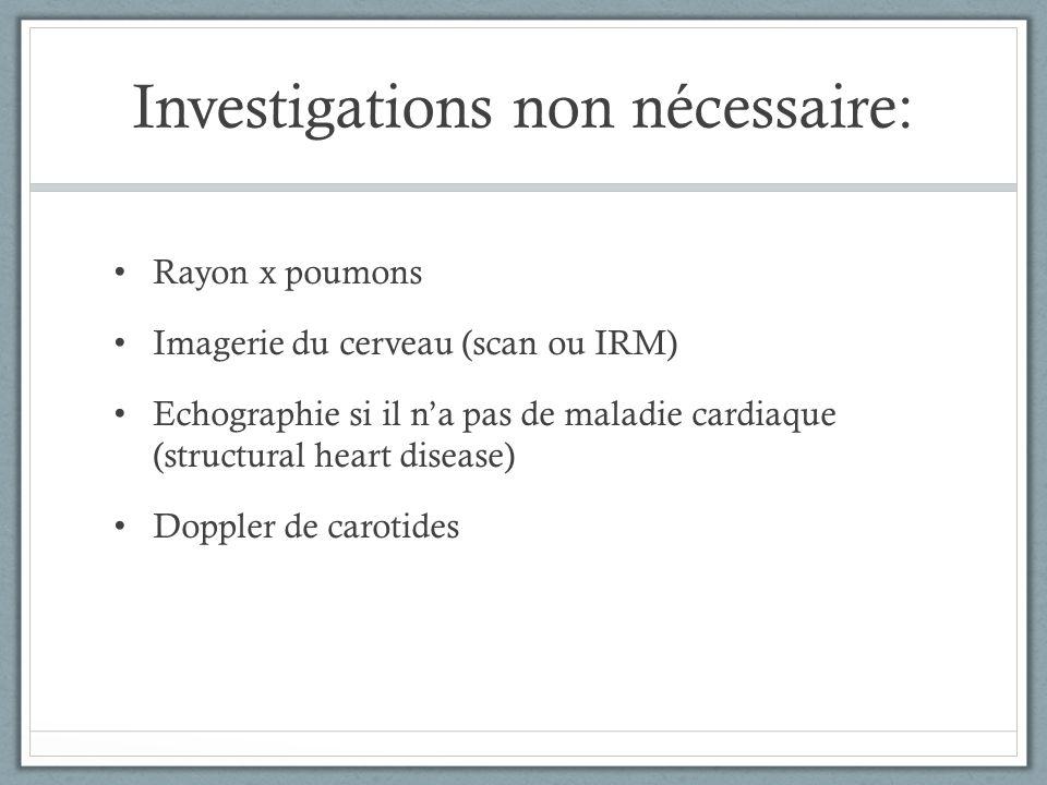 Investigations non nécessaire: