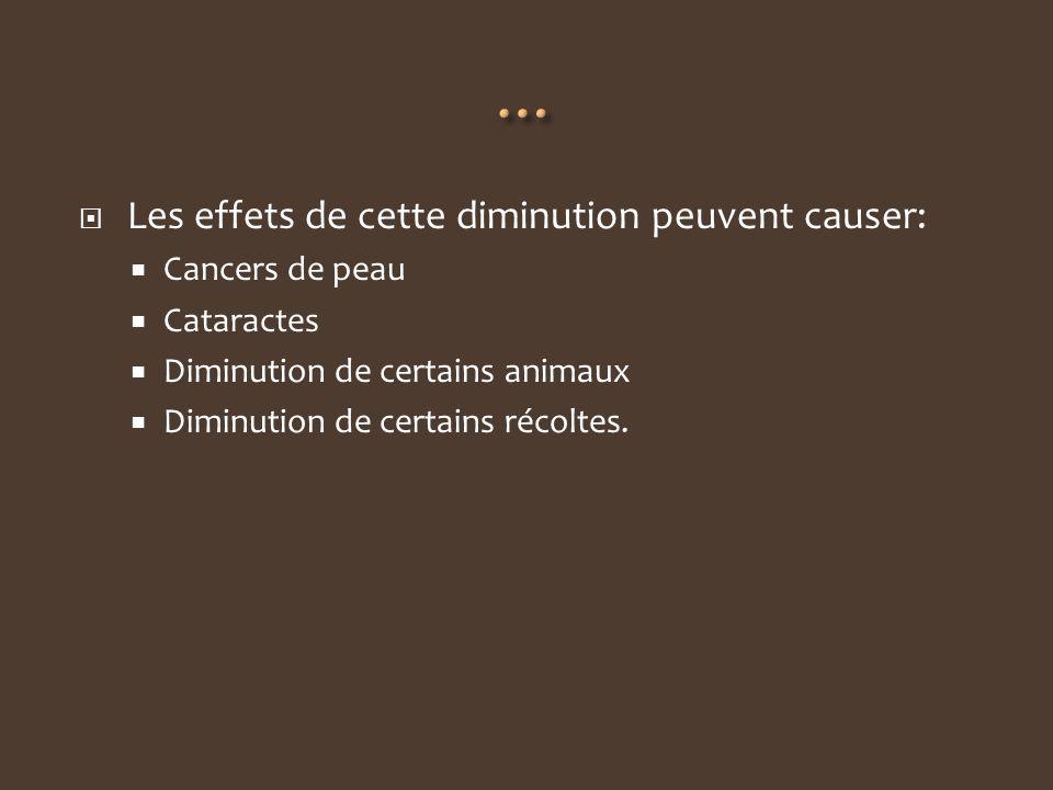 … Les effets de cette diminution peuvent causer: Cancers de peau