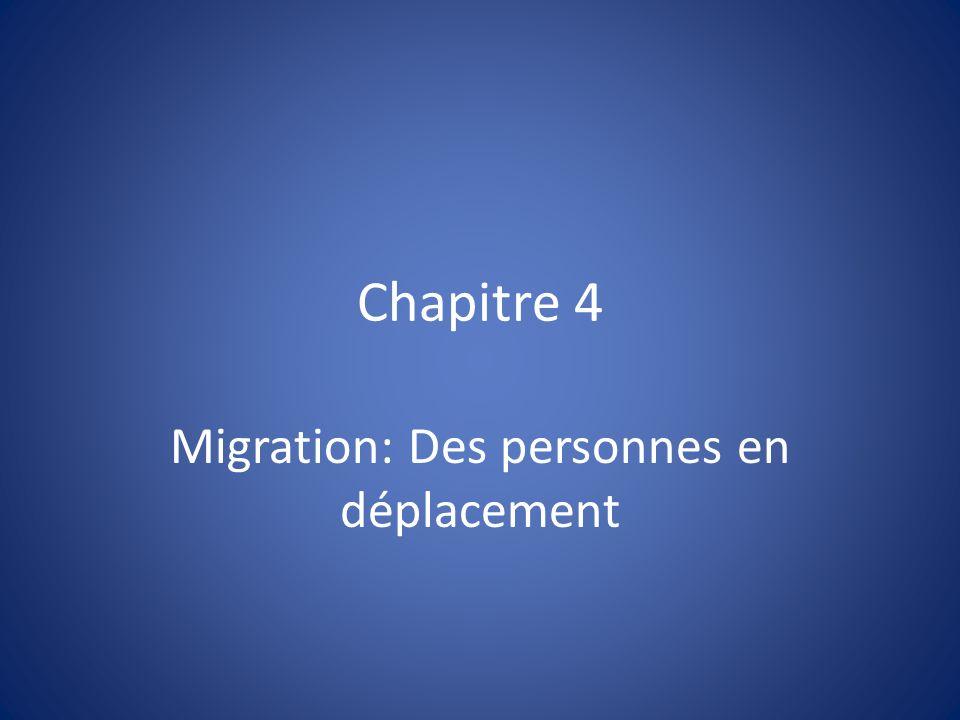 Migration: Des personnes en déplacement