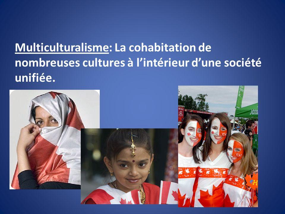Multiculturalisme: La cohabitation de nombreuses cultures à l'intérieur d'une société unifiée.
