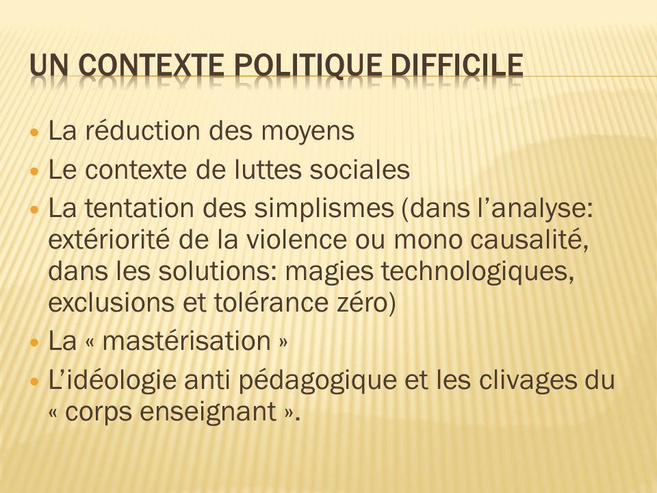 Un contexte politique difficile