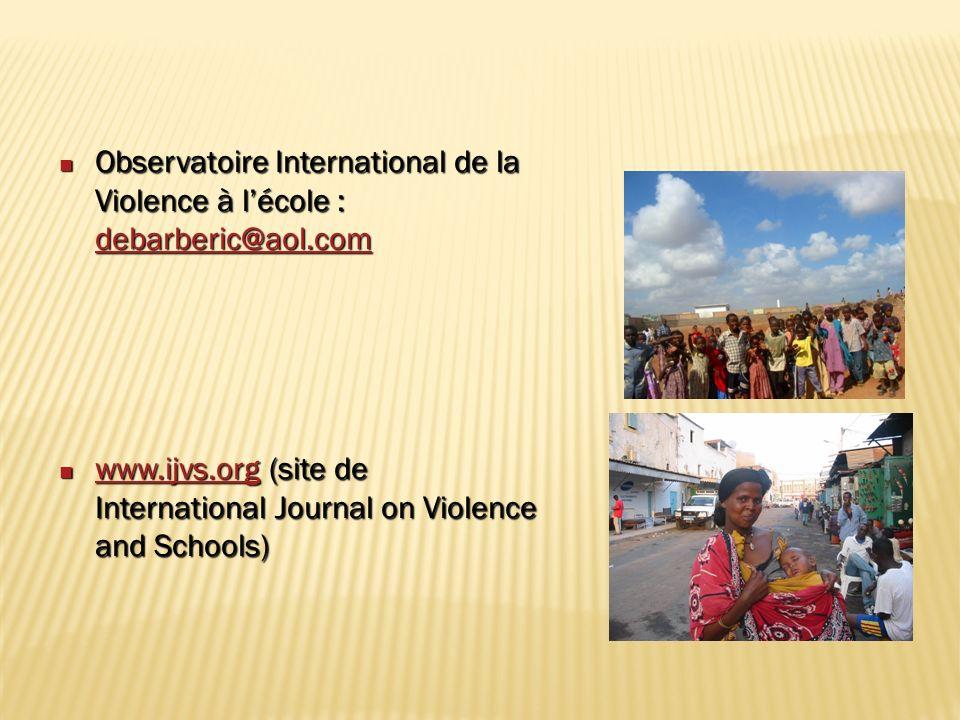 Observatoire International de la Violence à l'école : debarberic@aol