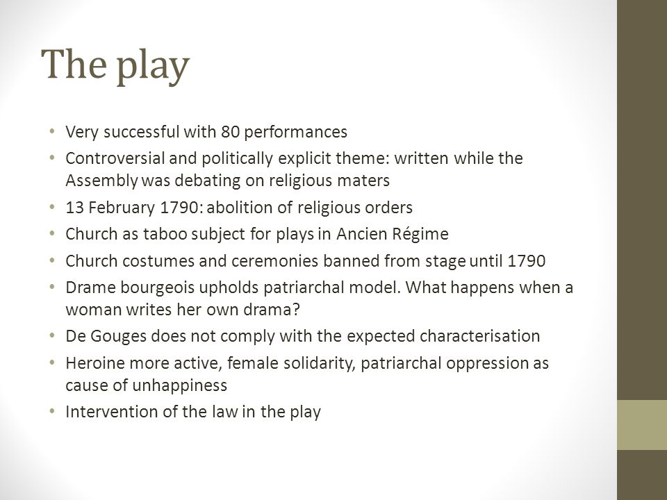 The play Very successful with 80 performances