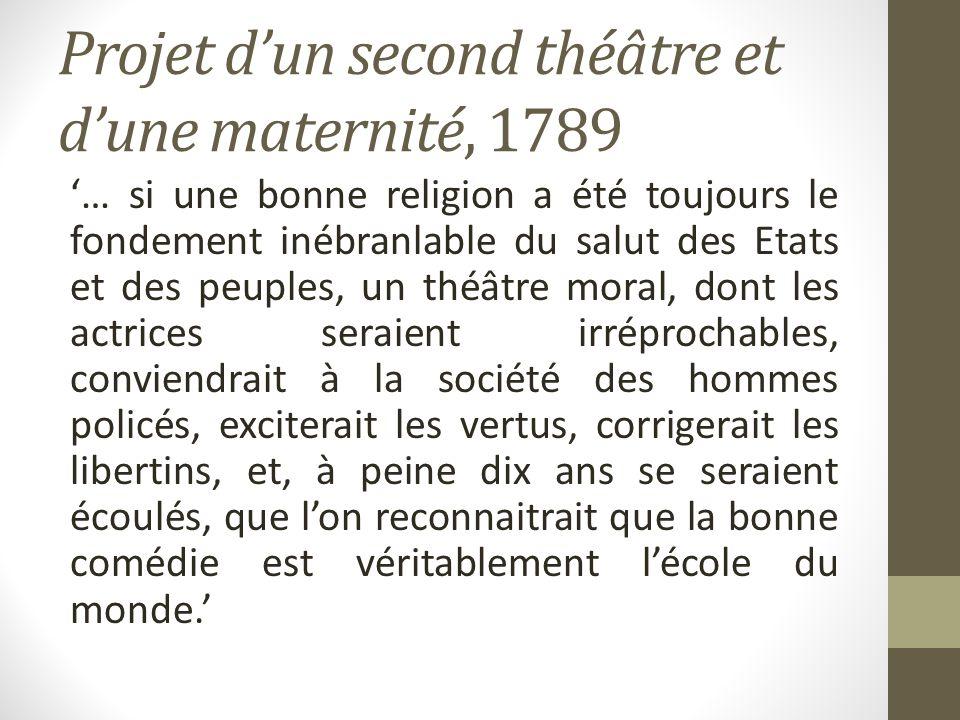 Projet d'un second théâtre et d'une maternité, 1789