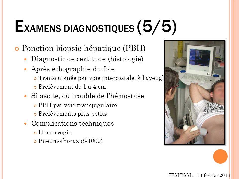 EXAMENS DIAGNOSTIQUES (5/5)