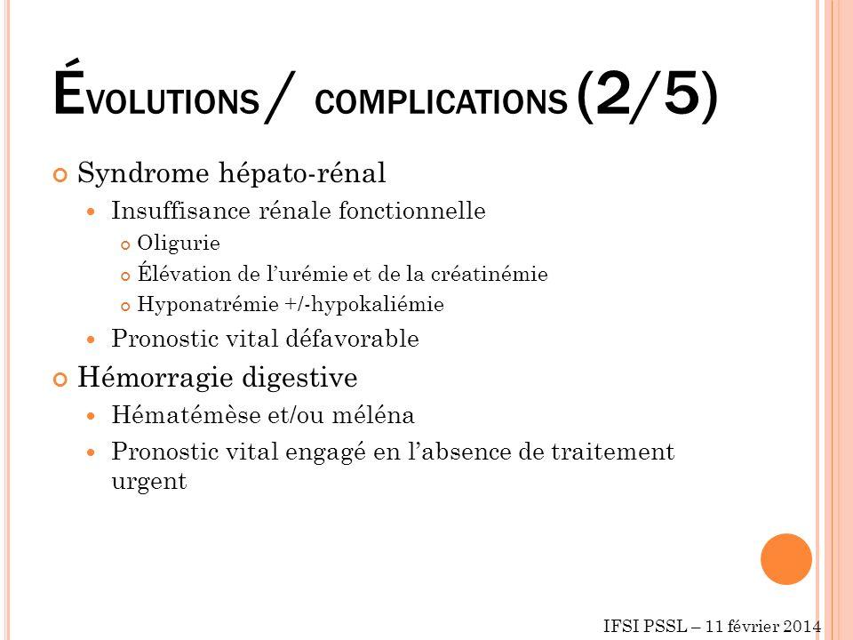 ÉVOLUTIONS / COMPLICATIONS (2/5)