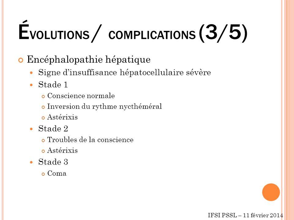 ÉVOLUTIONS / COMPLICATIONS (3/5)