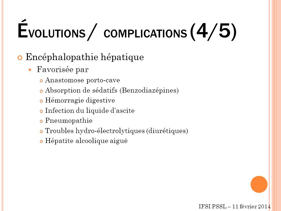 ÉVOLUTIONS / COMPLICATIONS (4/5)