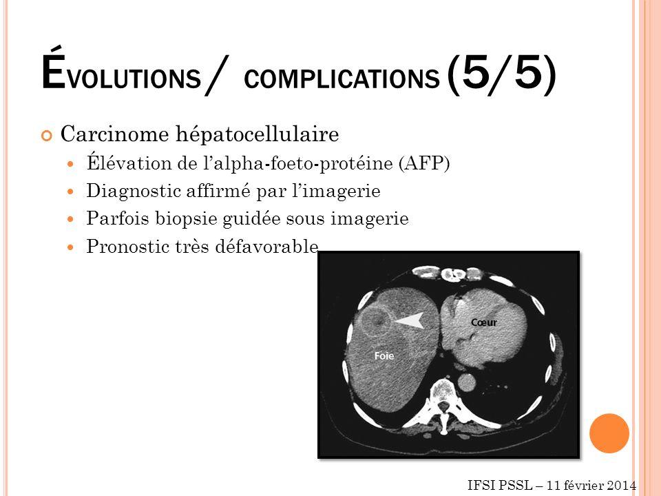ÉVOLUTIONS / COMPLICATIONS (5/5)