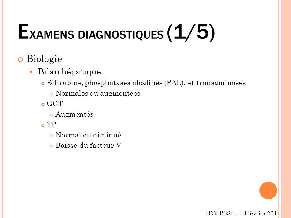 EXAMENS DIAGNOSTIQUES (1/5)