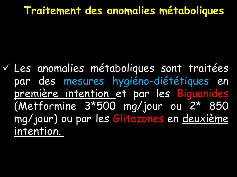 Traitement des anomalies métaboliques