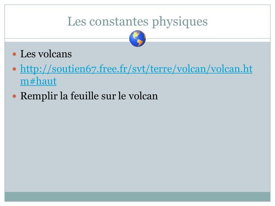 Les constantes physiques