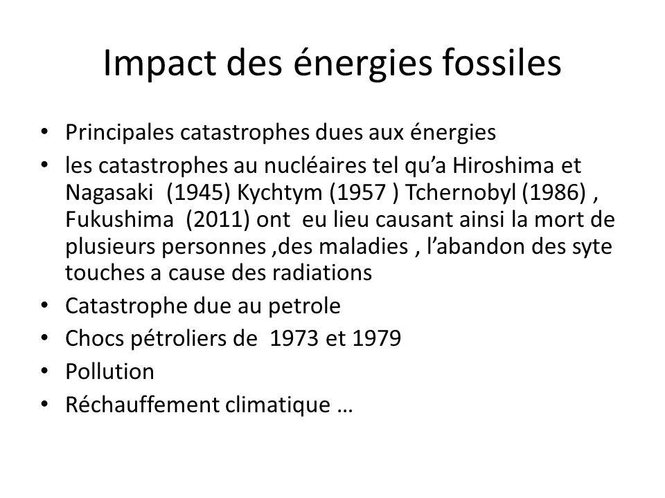 Impact des énergies fossiles