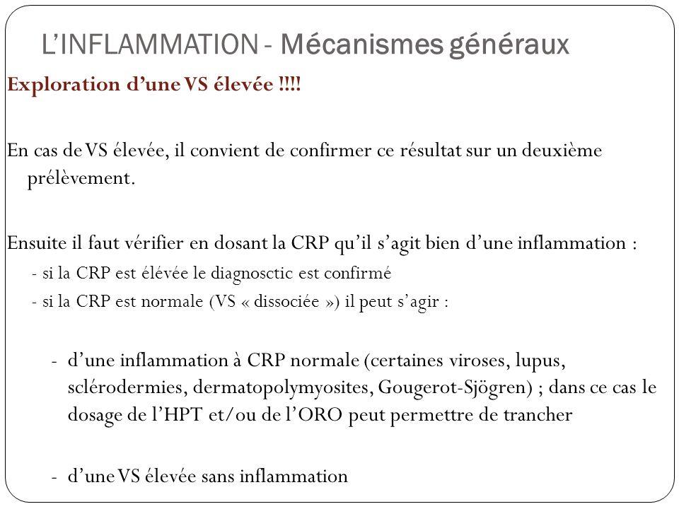 L'INFLAMMATION - Mécanismes généraux