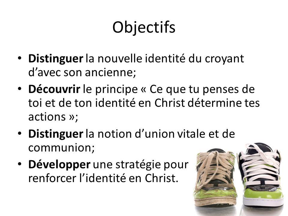 Objectifs Distinguer la nouvelle identité du croyant d'avec son ancienne;