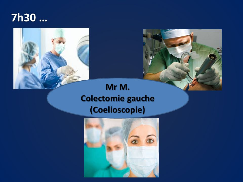 Colectomie gauche (Coelioscopie)