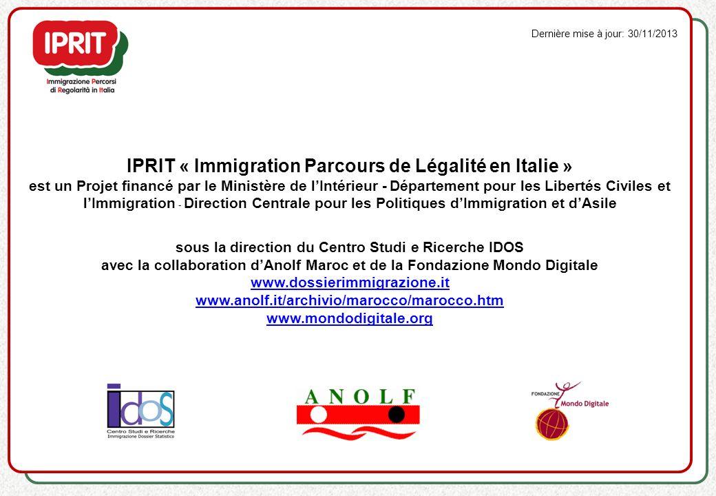 IPRIT « Immigration Parcours de Légalité en Italie »