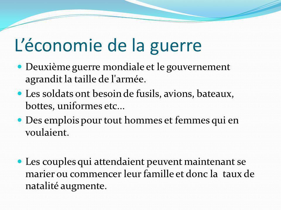 L'économie de la guerre