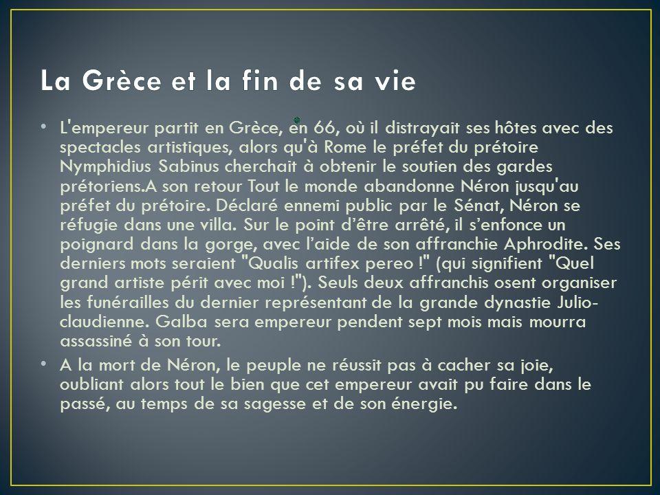 La Grèce et la fin de sa vie