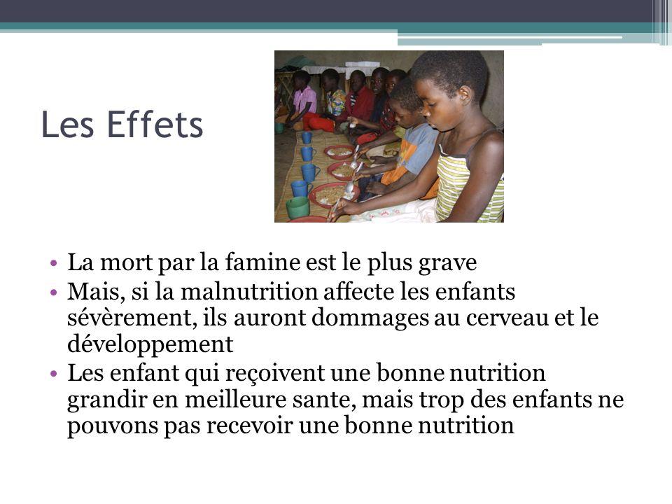 Les Effets La mort par la famine est le plus grave