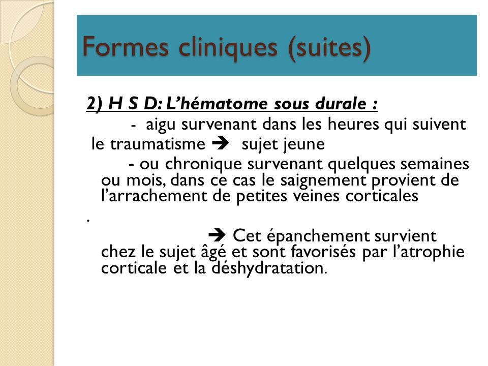 Formes cliniques (suites)