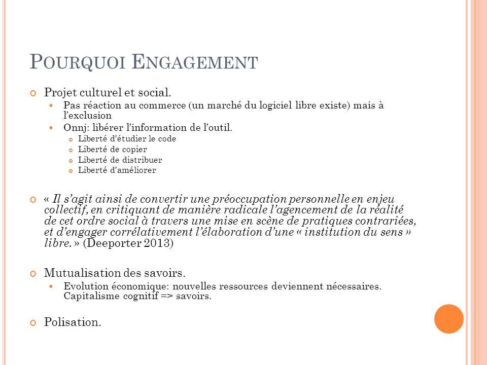 Pourquoi Engagement Projet culturel et social.