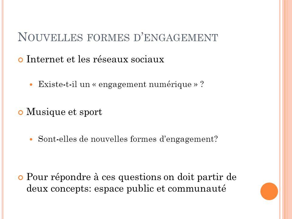 Nouvelles formes d'engagement