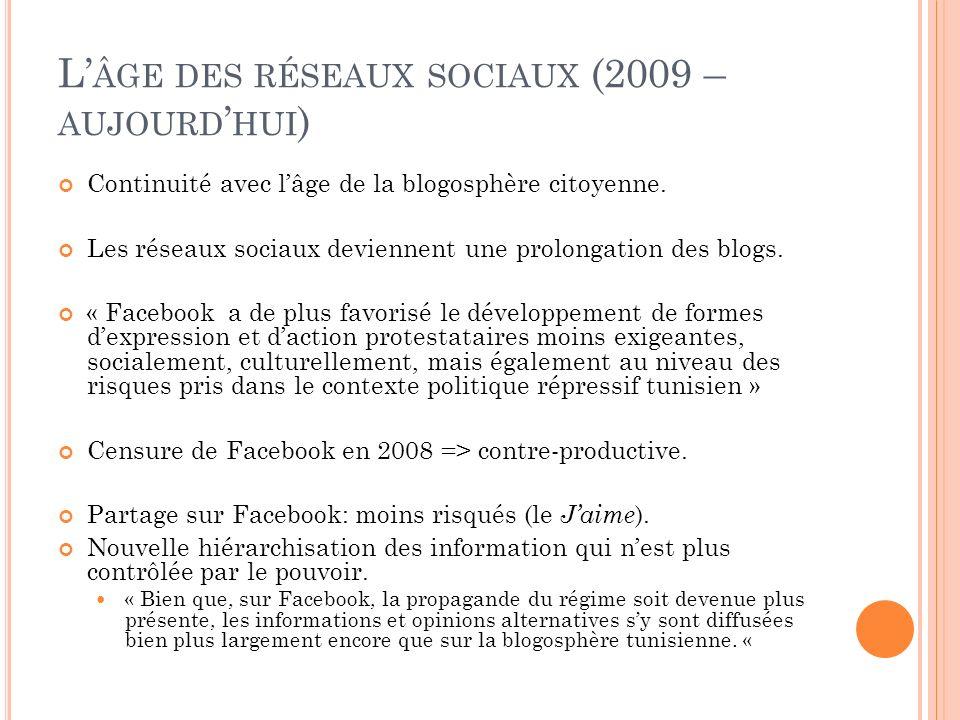 L'âge des réseaux sociaux (2009 – aujourd'hui)