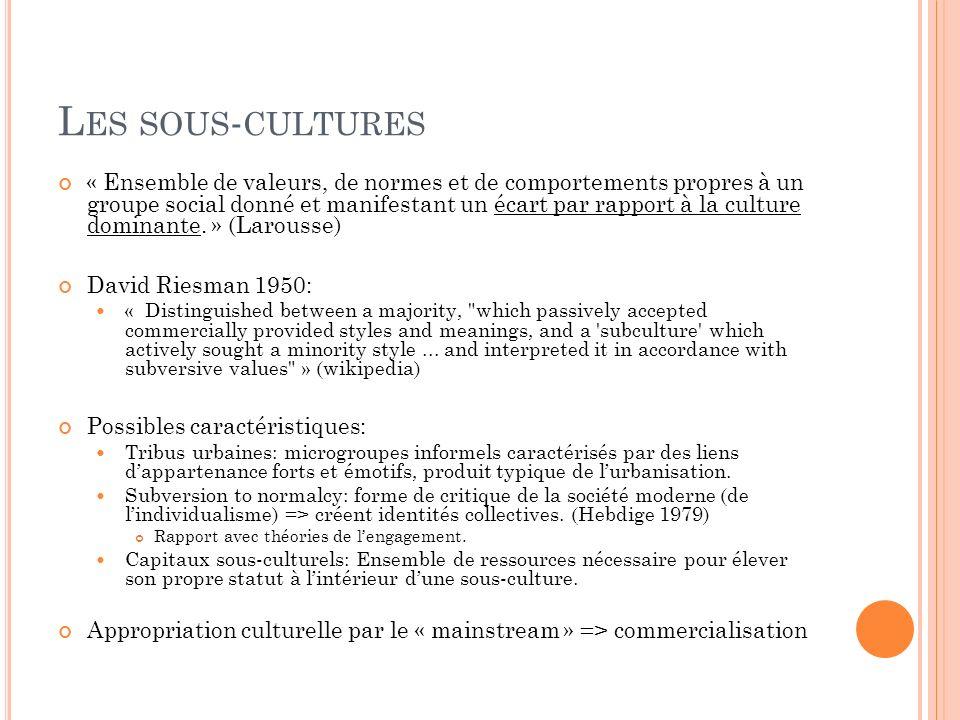 Les sous-cultures