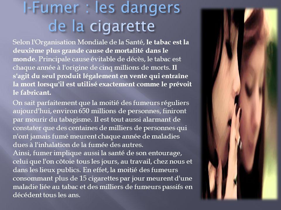 I-Fumer : les dangers de la cigarette