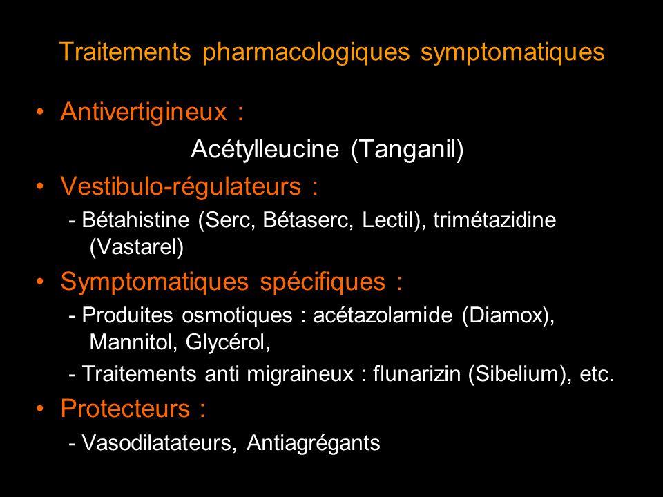 Traitements pharmacologiques symptomatiques