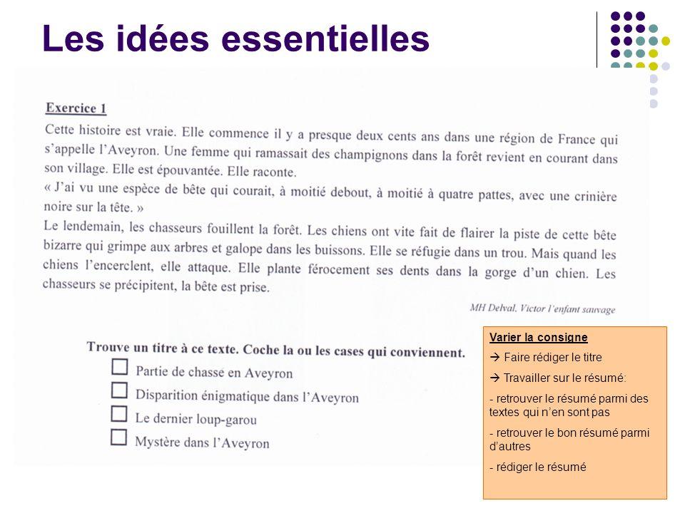 Les idées essentielles