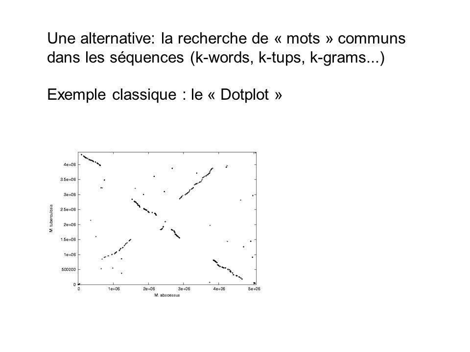 Une alternative: la recherche de « mots » communs