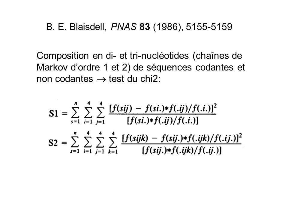Composition en di- et tri-nucléotides (chaînes de