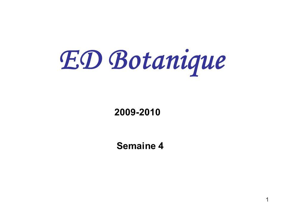 ED Botanique 2009-2010 Semaine 4