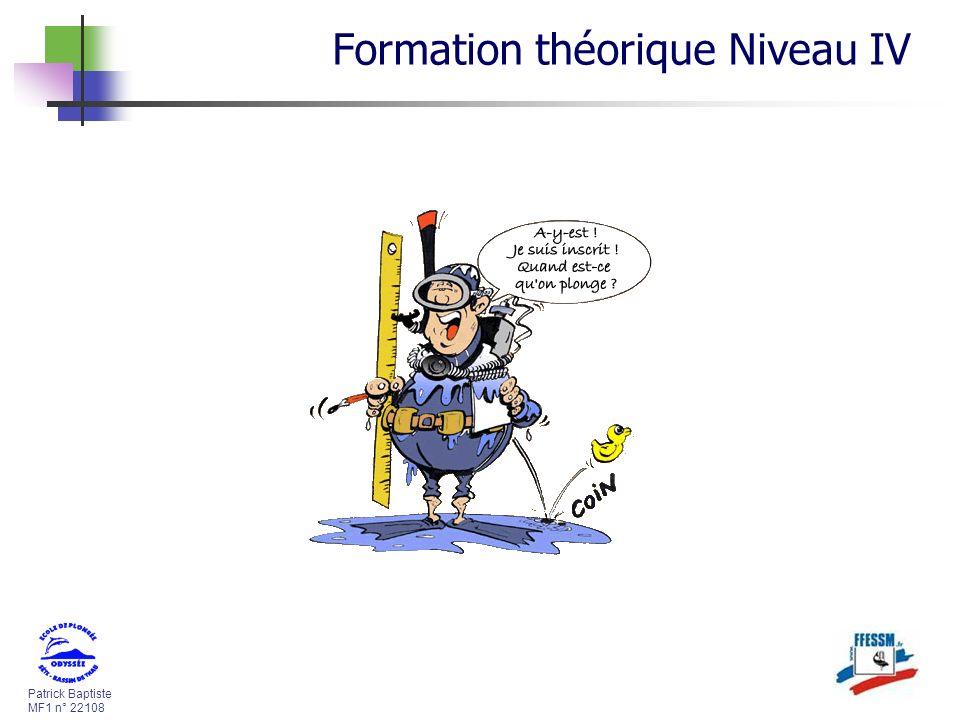 Formation théorique Niveau IV