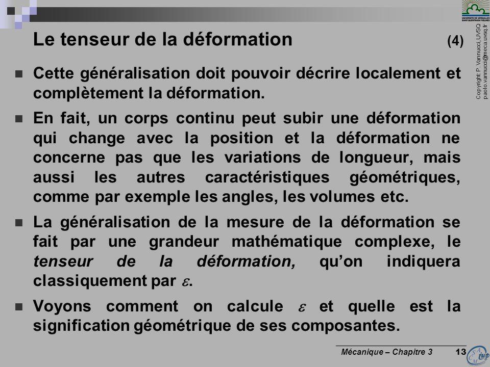 Le tenseur de la déformation (4)