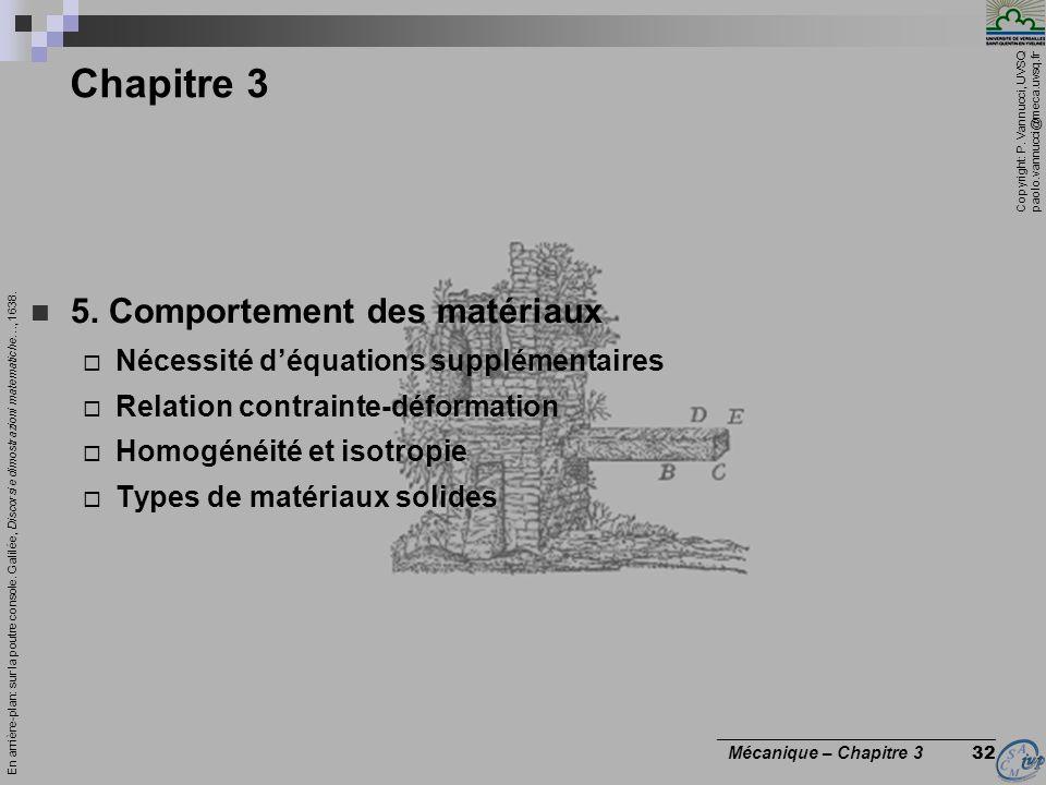 Chapitre 3 5. Comportement des matériaux