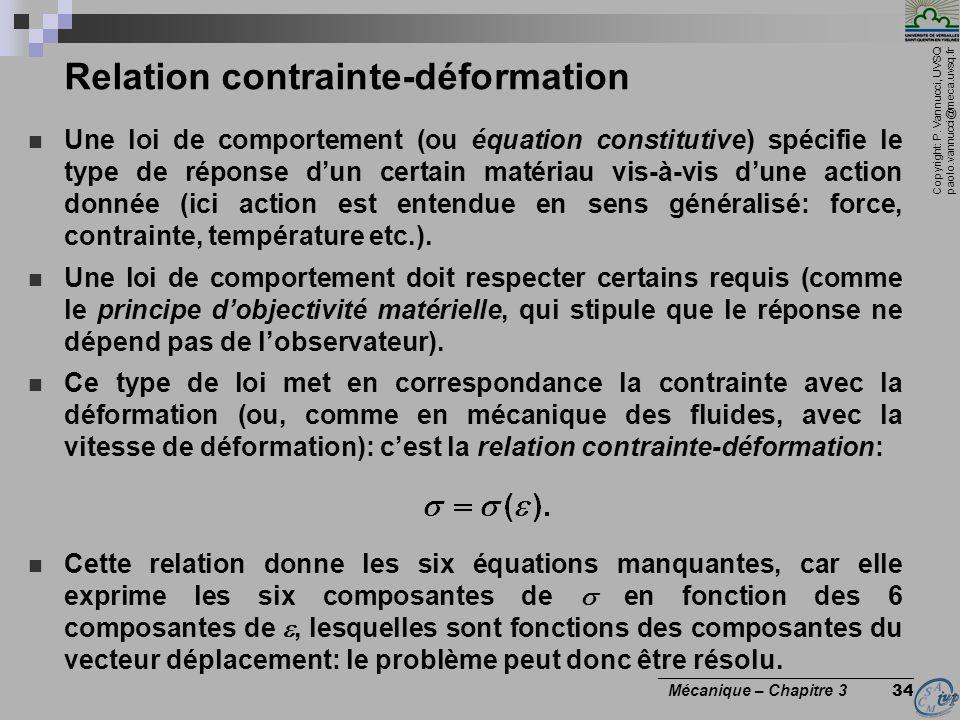 Relation contrainte-déformation