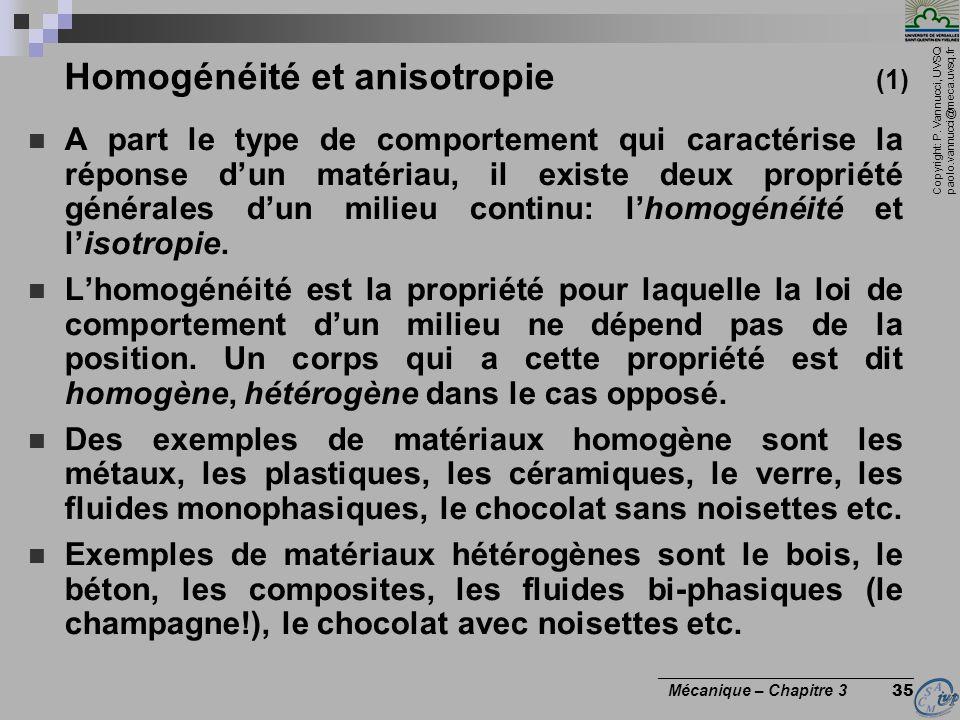 Homogénéité et anisotropie (1)