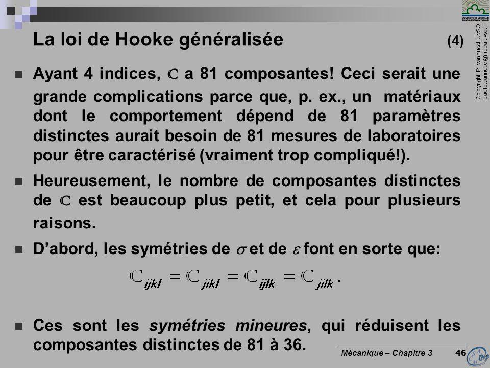 La loi de Hooke généralisée (4)