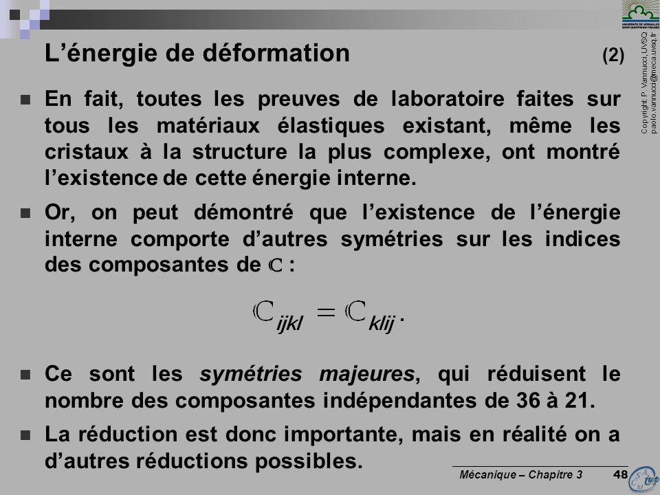 L'énergie de déformation (2)