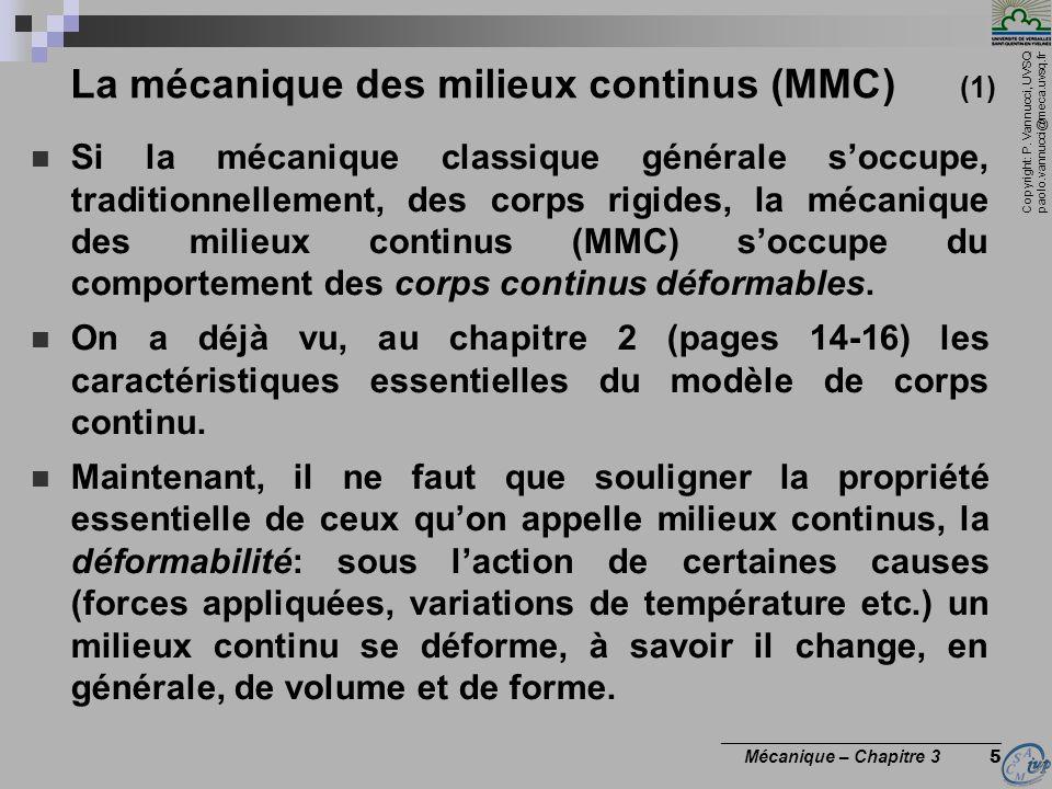 La mécanique des milieux continus (MMC) (1)