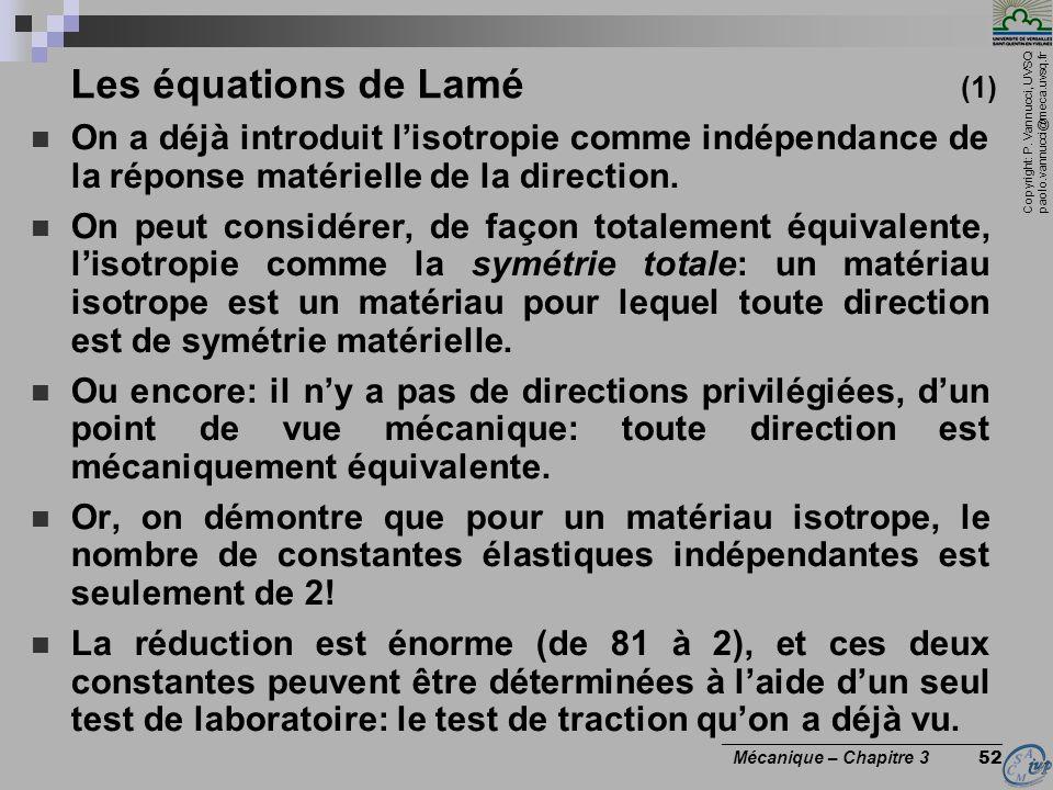 Les équations de Lamé (1)