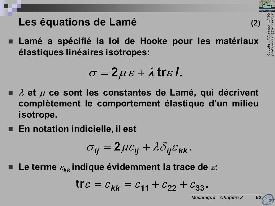 Les équations de Lamé (2)