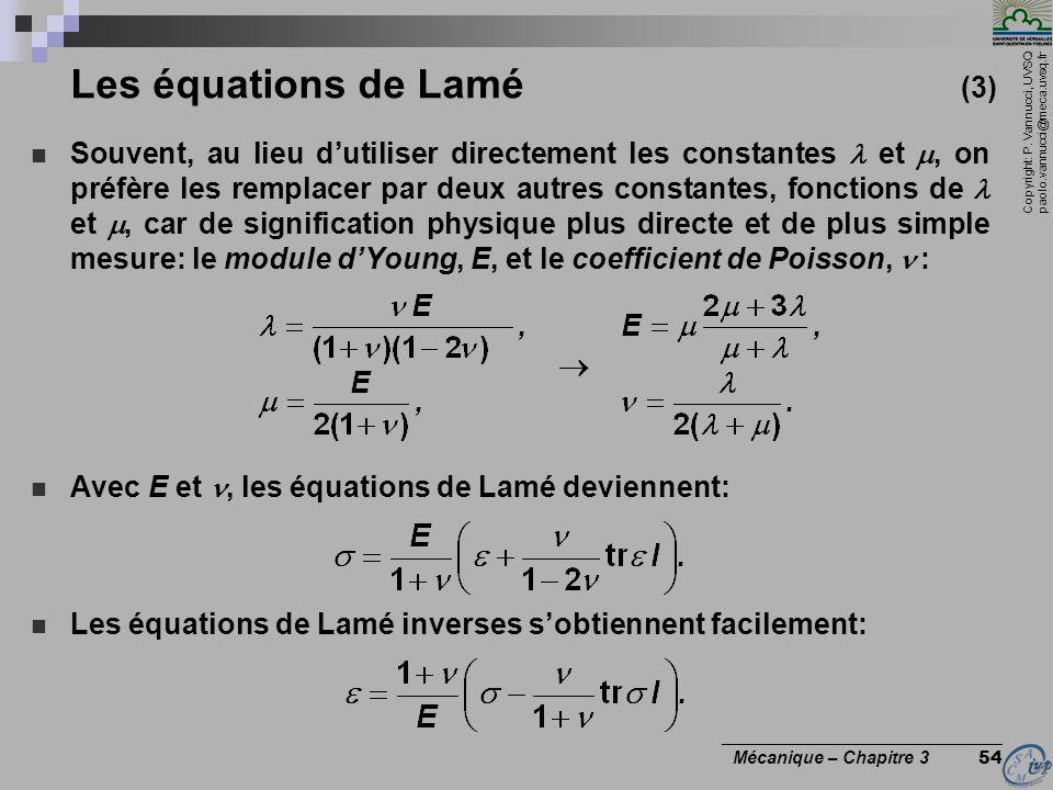 Les équations de Lamé (3)
