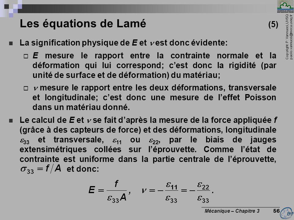 Les équations de Lamé (5)