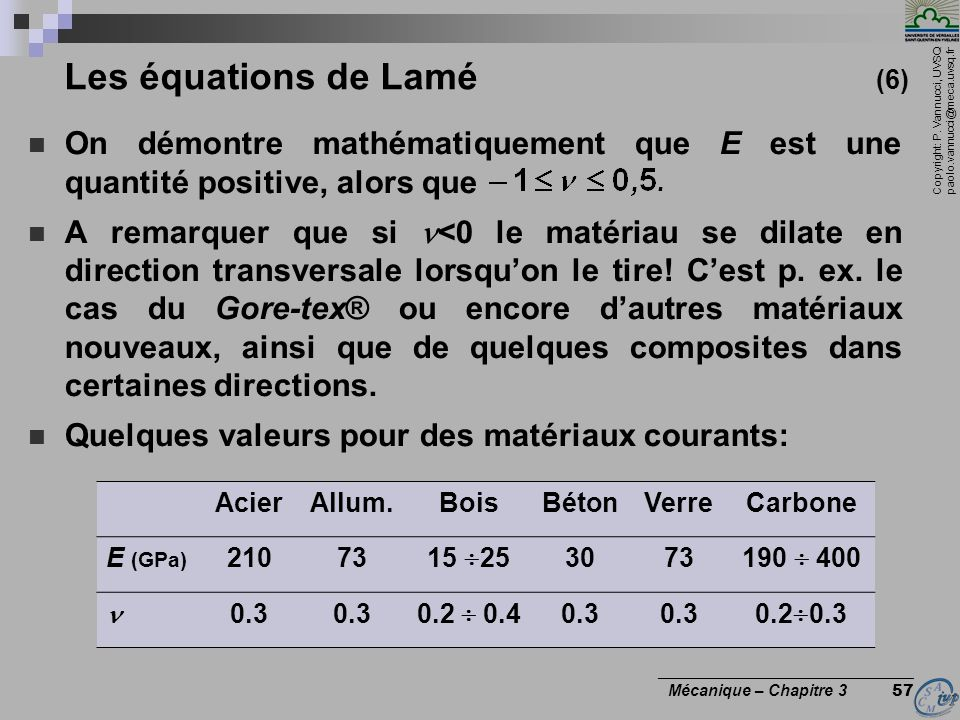 Les équations de Lamé (6)